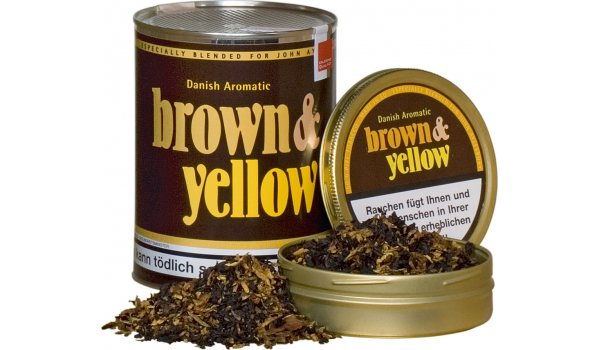 Tabac à pipe John Aylesbury brown and yellow 50 g.
