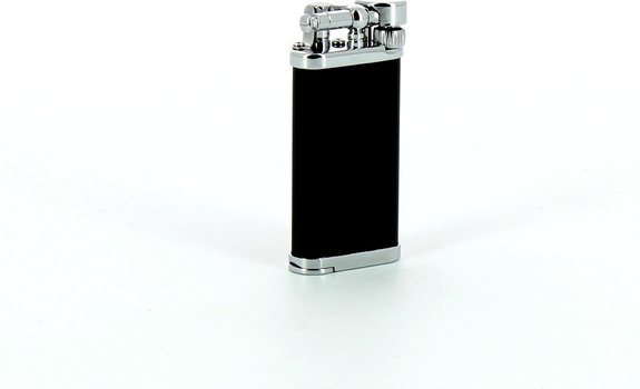 IM Corona Old Boy Pipe Lighter Black/Chrome with Integrated Tamper