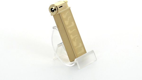 Sarome Pipe Lighter Gold Super Satin with Pipe Designs