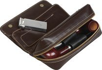 Dublin Pipe Bag Brown Leather (holds 2)
