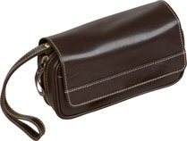 Dublin Pipe Bag Brown Leather (holds 3)