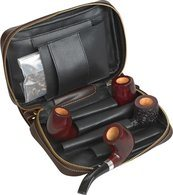 Dublin Pipe Bag Brown Leather (holds 4)