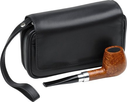 Leather Pipe Bag Black