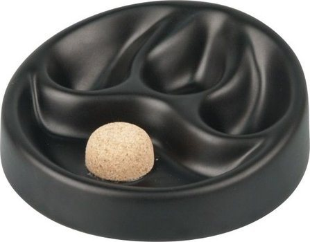 Ceramic Ashtray Matte Black for 3 Pipes