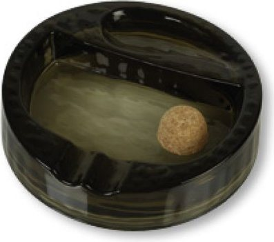 Smoked Glass Pipe Ashtray