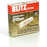 Blitz System Activated Charcoal Pipe Filters 40ct