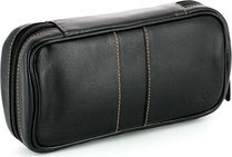 Angelo Timeless Pipe Bag Black Leather